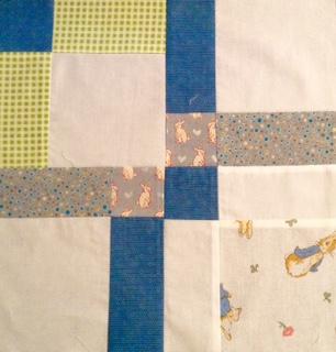 Baby boy quilt detail