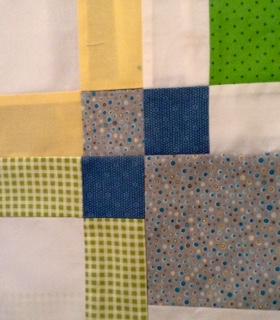 Baby boy quilt detail.2
