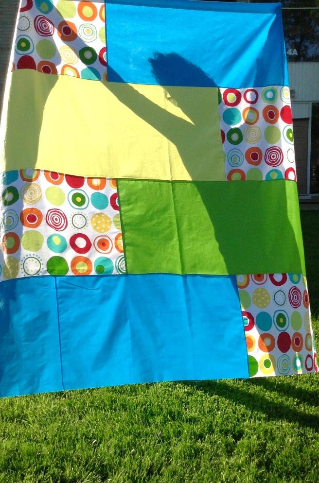 Summer quilt back