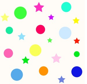 Polka dots and stars design by Abbie