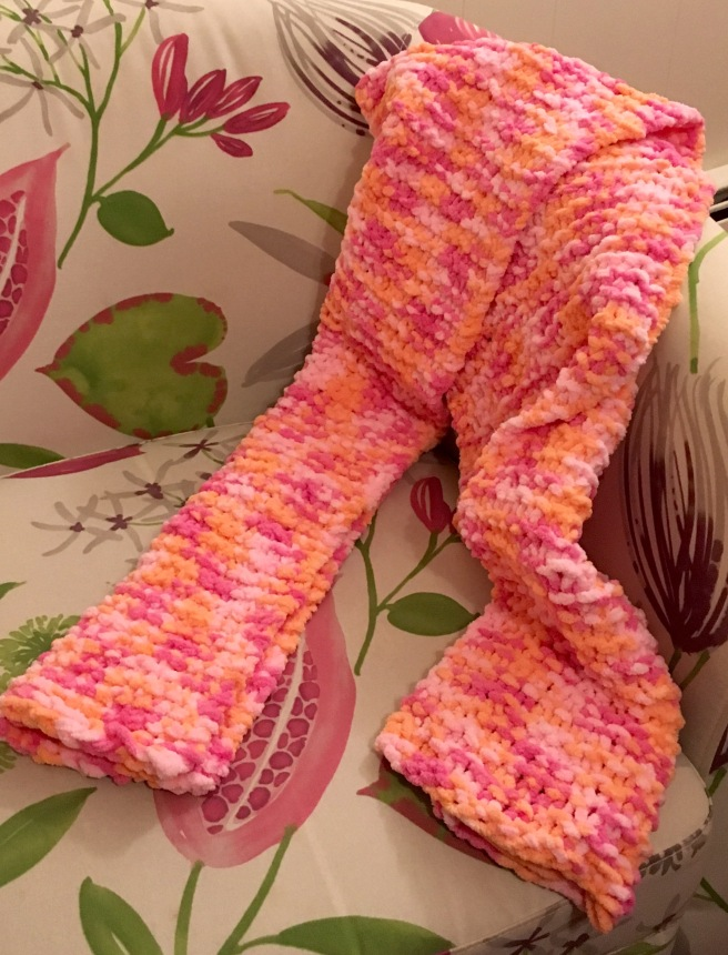 Garter knit chunky scarf