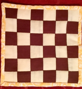 Chess board mug rug