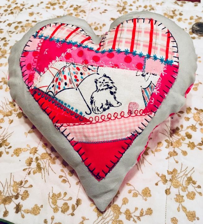 Crazy Heart mini pillow