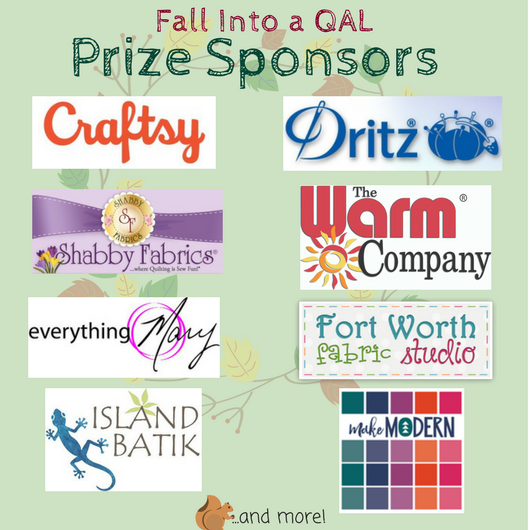 Fall Into a QAL Prize sponsors