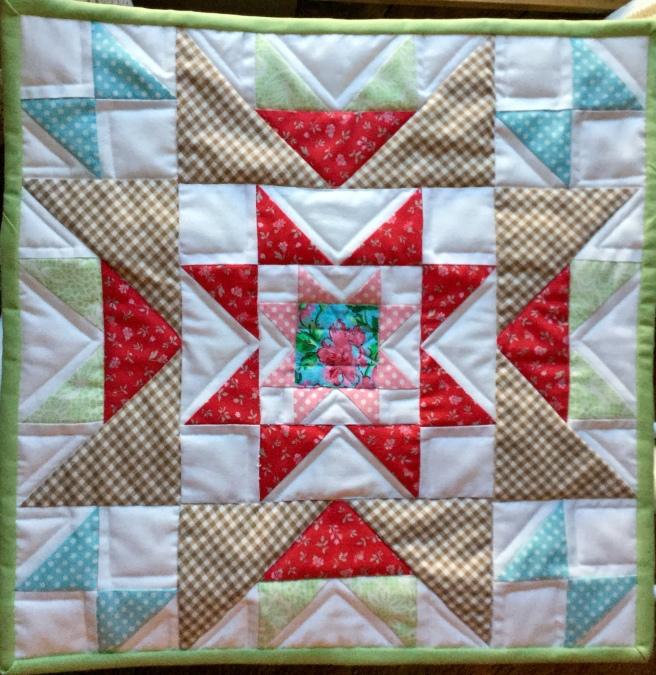 Star Cluster mini quilt Treadbare Creations