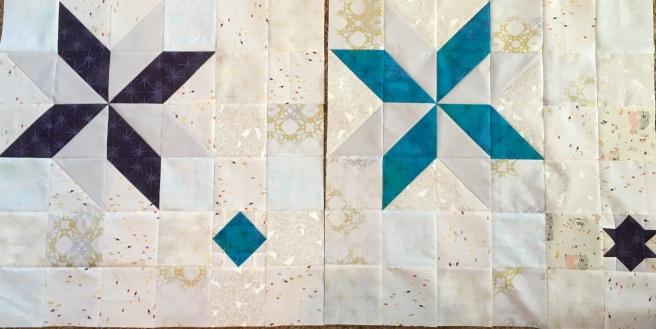 Modern Star quilt blocks