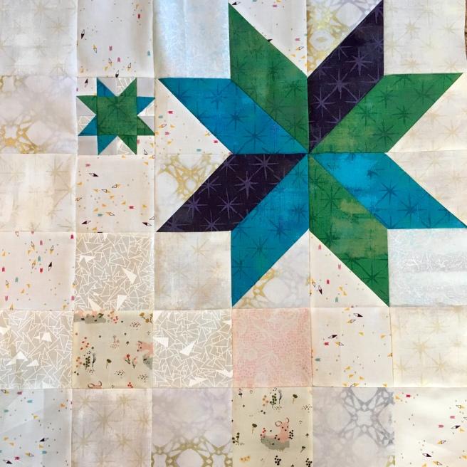 Modern Star quilt block