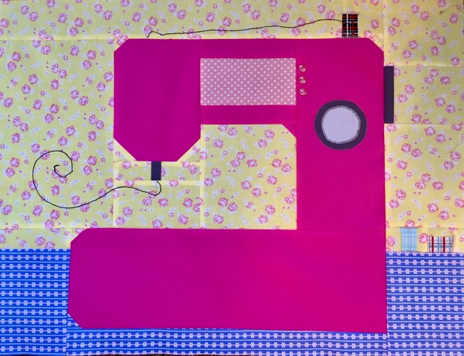 Sewing machine quilt block