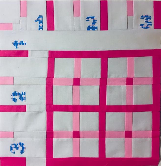 """12"""" x 12"""" """"Ruler"""" block"""