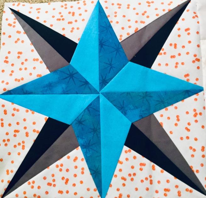 Paper pieced modern Star quilt block