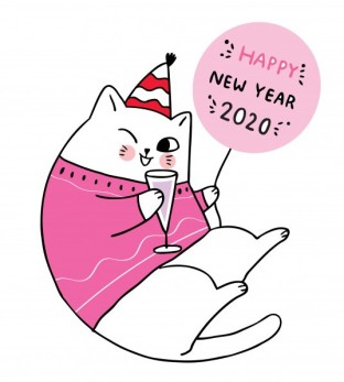cartoon-cute-new-year-cat-celebration