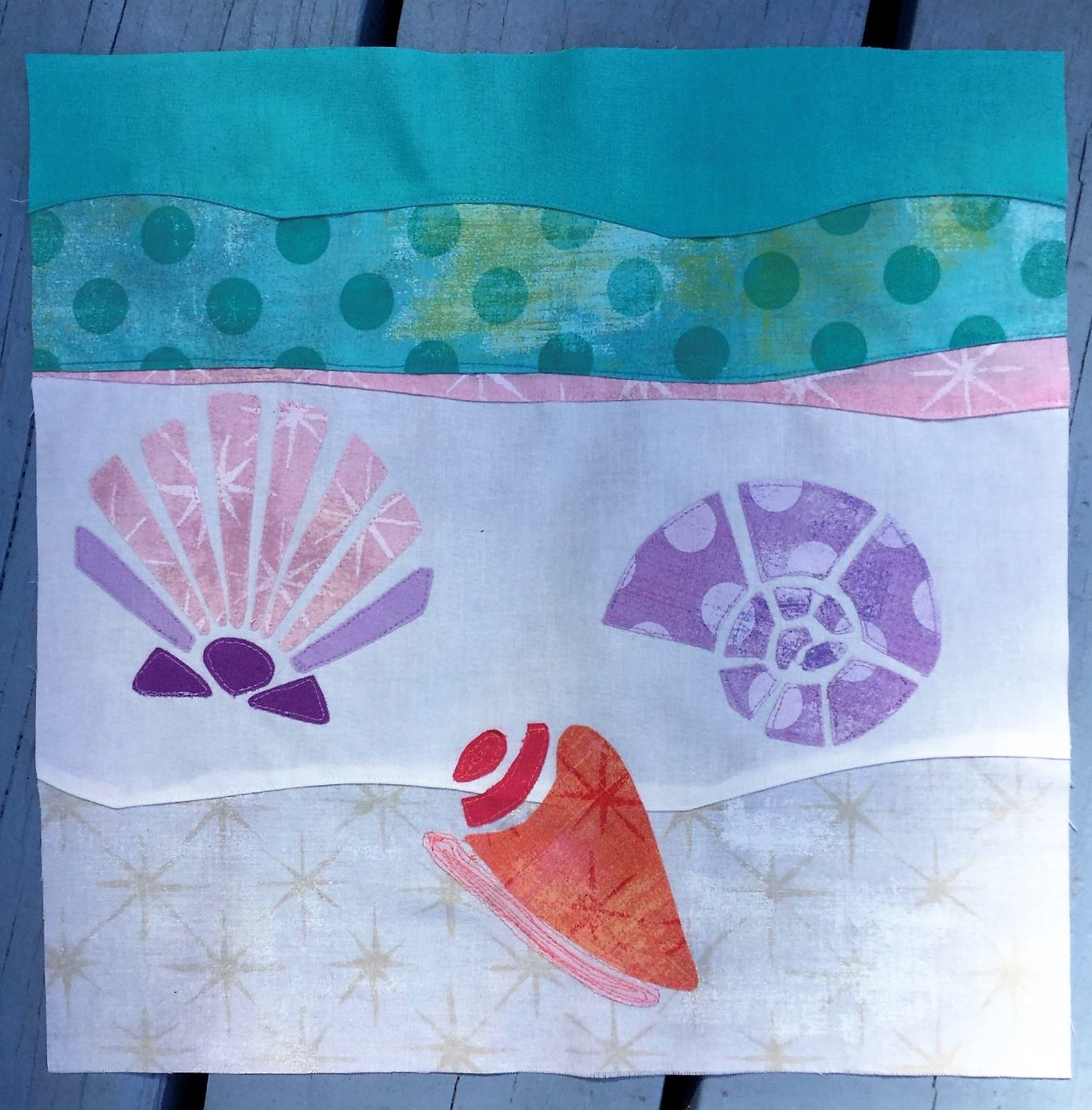 Sea Sews Seashells by the Seashore by Becca Fenstermaker